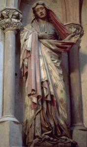 Figure 2. Naumburg Cathedral, choir screen, Crucifixion (detail), ca. 1255