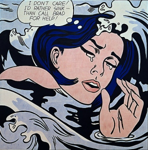 Figure 1. Roy Lichtenstein, Drowning Girl, 1963, Oil on canvas, 68 x 68 inches