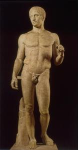 Figure 2. The Doryphoros, Roman Marble copy, 120-50 BCE