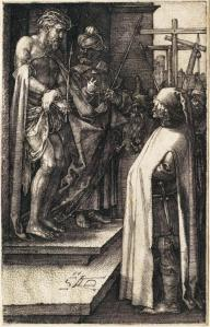 "Figure 1: Albrecht Dürer's Ecce Homo in ""Engraved Passion"" series, 1507-1512"