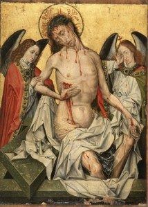 Figure 3: Entourage of Master of Flemalle Man of Sorrows (c1430)