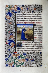 Figure 7 Book of Hours St. Martha with Tarasque. 1440 French Parchment