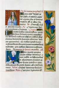 Figure 6 Book of Hours Mary Magdalene and Saint Martha holding ladel. Flemish