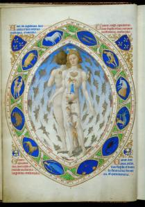 Figure 1Anatomical Man Painted by Pol de Limbourg and finished by Jean Coolombe, 1409-147