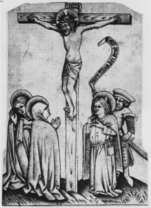 Figure 2. Anonymous Upper Rhenish engraver, The Crucifixion, Engraving, 87x63mm