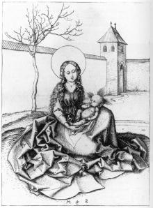Figure 2 Martin Schongauer, Madonna and Child in Garden, ca. 1480