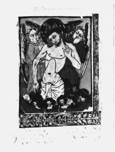 Figure 2. Anonymous, Christ as the Man of Sorrows with Angels, 15th century, woodcut