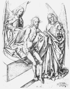 Figure 3. Master PM, The Man of Sorrows Between Two Angels, fifteenth century, engraving