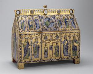 Fig. 3 Reliquary with scenes of the Crucifixion and Christ in Majesty , ca. 1180-90, Limoges