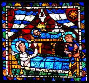 Figure 3 Chartres, Nativity Window, 12th century