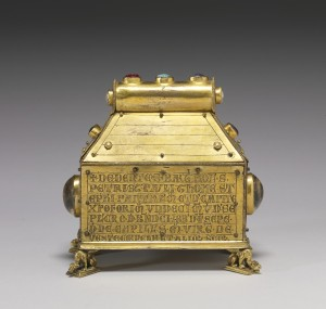Figure 1. Reverse: Anonymous, Reliquary of the Virgin and Saints, Southern Germany, c. 1270-80. Baltimore, MD, The Walters Art Museum, 53.27.