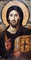 Icon of Christ Pantocrator, Saint Catherine's Monastery, Mount Sinai, c. 6th century CE