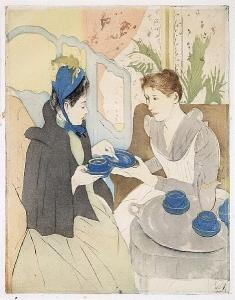 Figure 1. Mary Cassatt, Afternoon Tea Party, 1890-1891. Print, 43.2 x 30.2 cm.