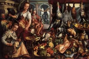 Figure 3. Joachim Beuckelaer, The Well-Stocked Kitchen, 1566. Oil on panel, 171 x 250 cm.