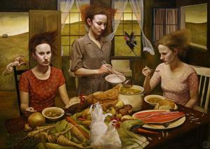 Figure 2. Andrea Kowch, The Feast, 2013-2014. Acrylic on canvas, 152.4 x 213.4 cm.