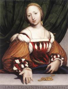 Figure 4. Hans Holbein, Lais of Corinth, 1526. Oil on limewood, 34.6 x 26.8 cm.