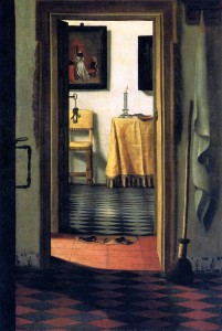 Figure 5. Samuel Van Hoogstaten, View of an Interior (or The Slippers), c. 1654-1662. Oil on canvas, 103 x 70 cm.