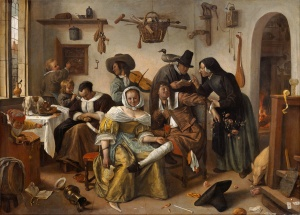 Jan Steen, Beware of Luxury, 1655