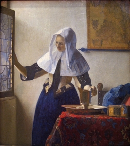 Johannes Vermeer, Young Woman With a Water Pitcher,1660-62