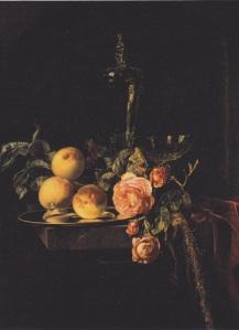 Figure 5. Willem van Aelst, Roses and Peaches, 1659